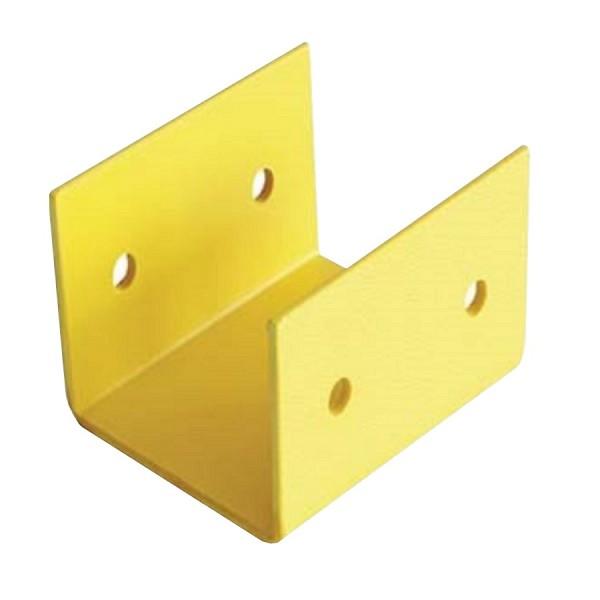 Fibre Ducting Splice Plastic LSZH Yellow (H) 100mm x (W) 100mm
