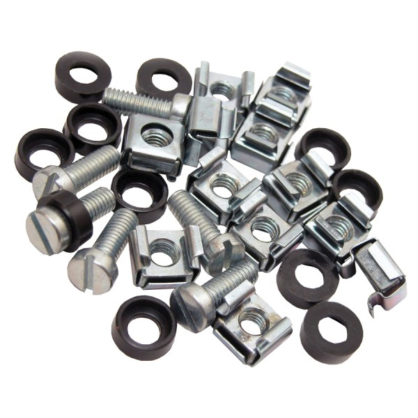 Cage Nut & Bolts Slot Pan Screw Silver