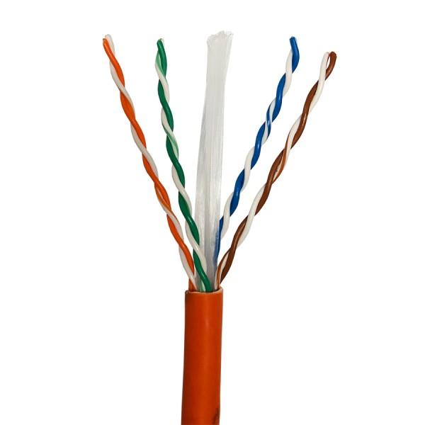 Cat6 Data Cable Solid U/UTP LSZH 4 Pair Orange 305m