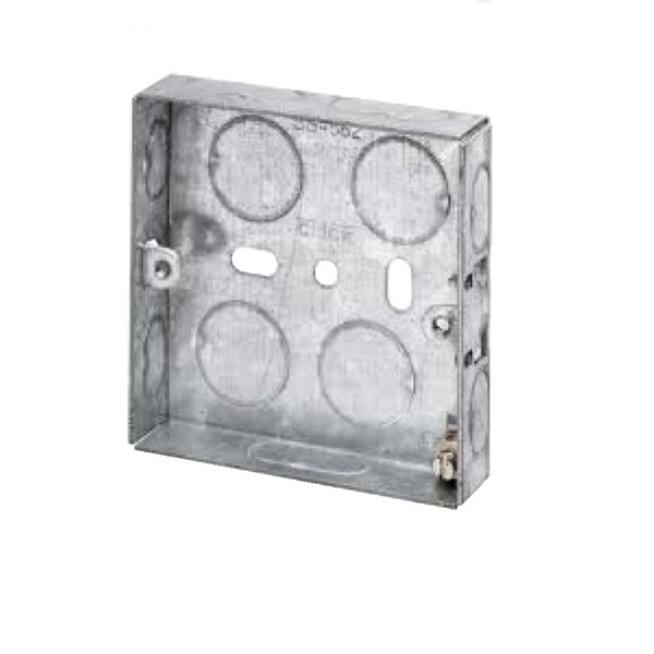 Pattress Box Single Gang Steel Flush Mount (D) 25mm