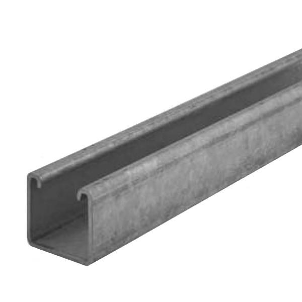 Channel Support Plain Hot Dip Galvanised Steel P1000X3 (W) 41mm x (D) 41mm x (L) 3m