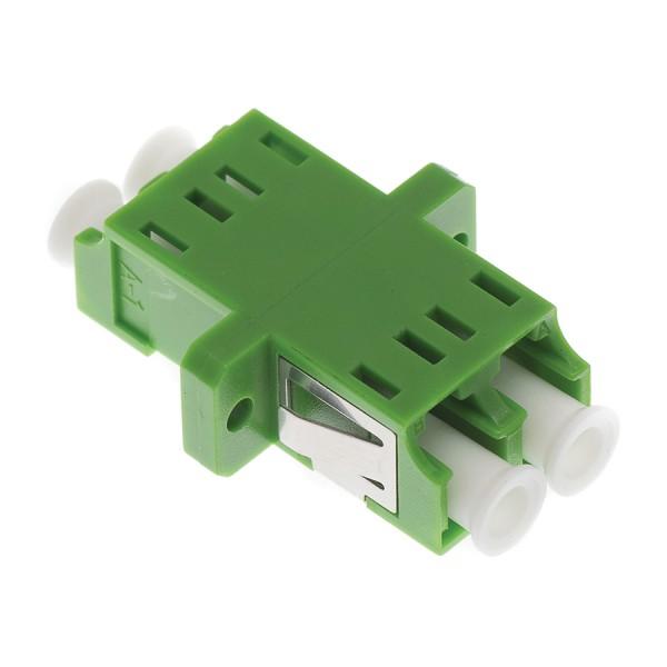 Fibre Optic Adaptor LC/APC Duplex SM Ceramic Green