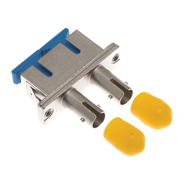 Fibre Optic Adaptor Hybrid SC-ST Duplex MM Bronze Beige