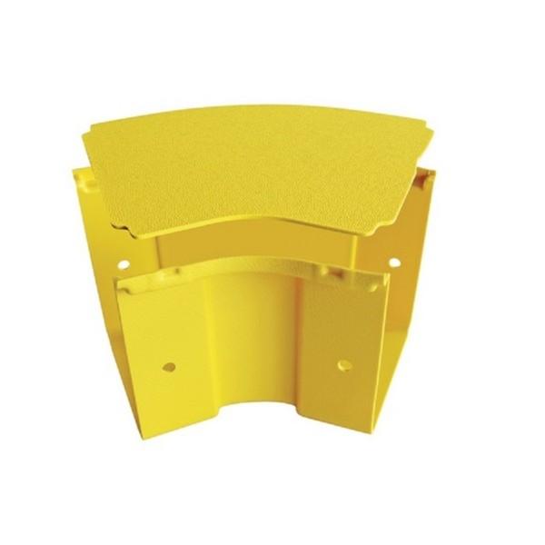 Fibre Ducting Horizontal Bend Plastic LSZH 45 Degree c/w Lid Yellow (H) 50mm x (W) 50mm
