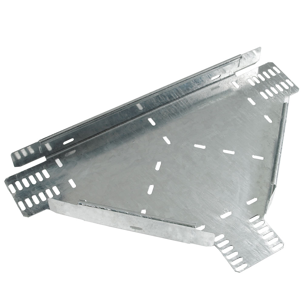 Cable Tray Flat Equal Tee Medium Duty Pre-Galvanised TUMT100PG (W) 100mm x (D) 25mm