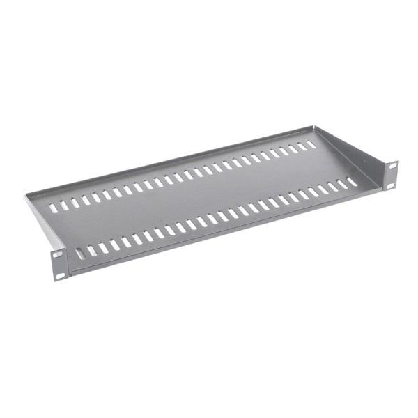Cantilever Shelf Semi Vented Up to 35kg Grey (H) 1U x (W) 19″ x (D) 190mm