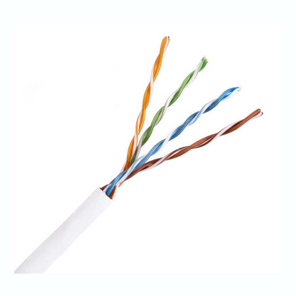 Cat5E Data Cable Solid U/UTP LSZH 4 Pair White 305m