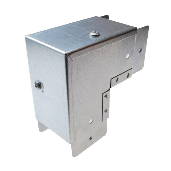 Trunking Square Bend Outside Lid Pre-Galvanised 90 Degree ASBO44 (H) 100mm x (W) 100mm