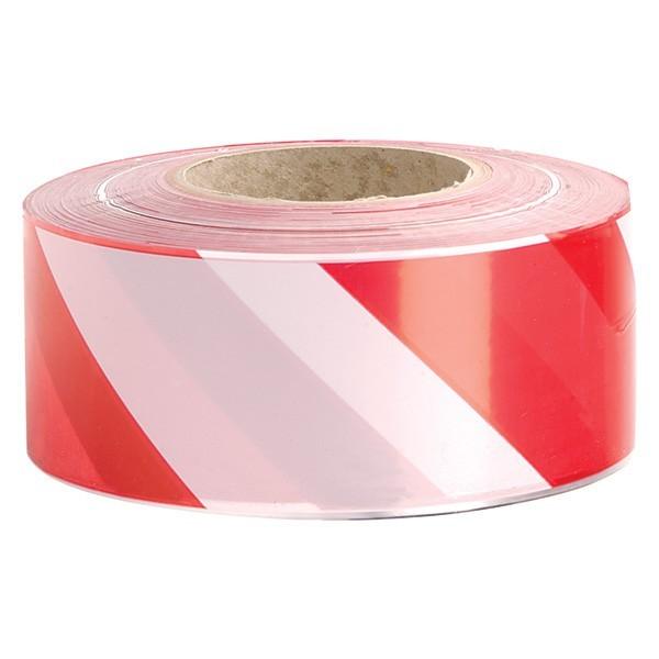 Tape Hazard Red/White (W) 50mm x (L) 33Mtr