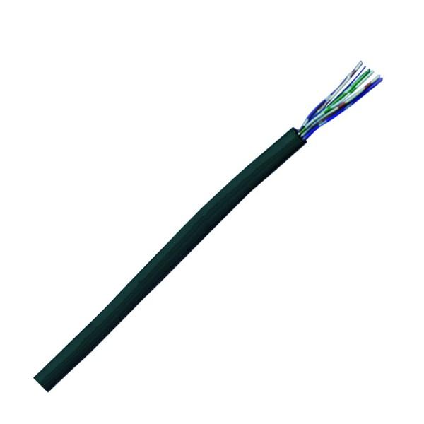 Voice Cable CW1308 2 Pair PVC Internal Eca Black (L)200Mtr