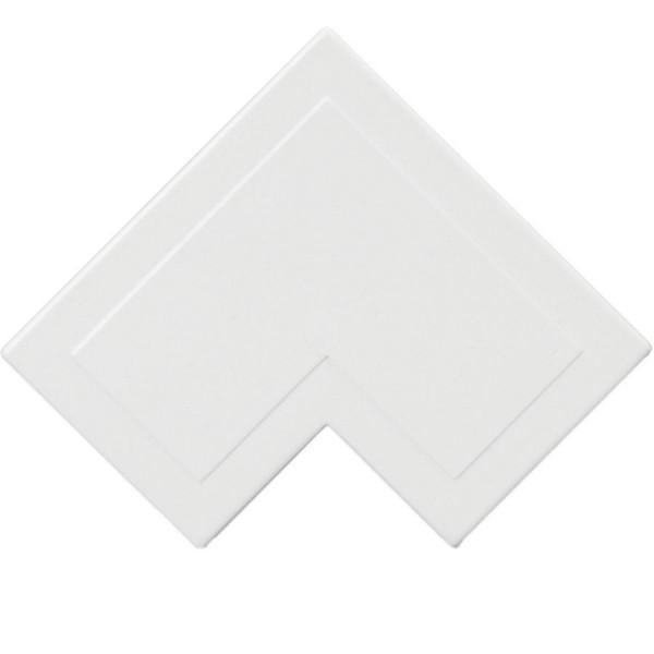 Trunking Mini Flat Angle PVC White (H) 16mm x (D) 16mm