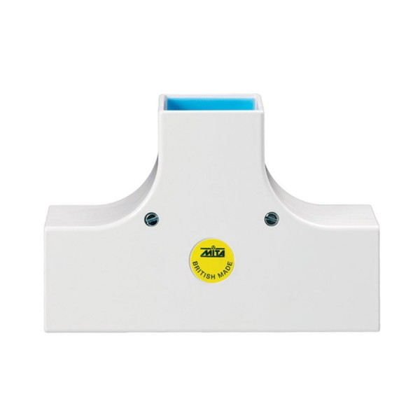 Trunking Maxi Flat Tee Fabricated PVC TRK – Heavy Duty White (H) 100mm x (D) 100mm