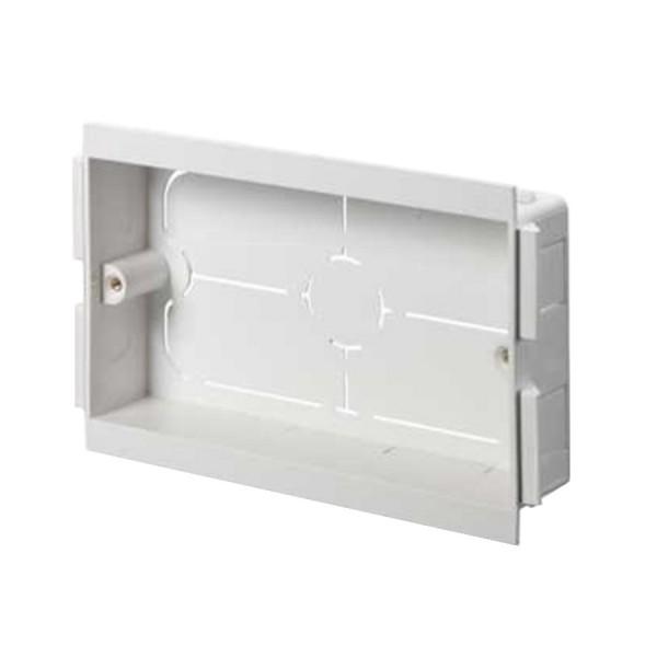 Dado Trunking Consort Socket Mounting Box 2 Gang White (D) 25mm