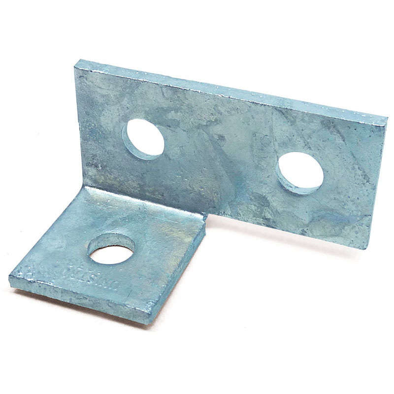 Channel Bracket Angled 90 Degree Hot Dip Galvanised Steel 2+1 Hole P1038 (W) 48mm x (D) 90mm