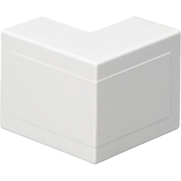 Trunking Mini External Angle PVC White (H) 16mm x (D) 16mm