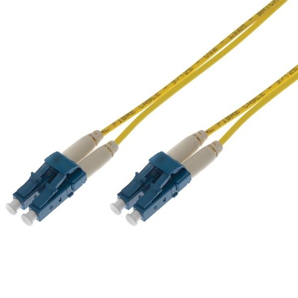 Fibre Patch Lead Duplex SM LC-LC OS2 LSZH 0.5 Metre