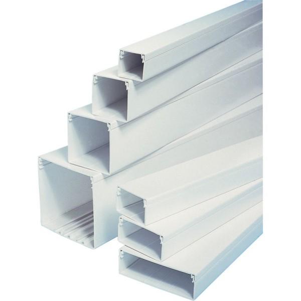Trunking Maxi PVC TRK – Heavy Duty White (H) 75mm x (D) 75mm x (L) 3m