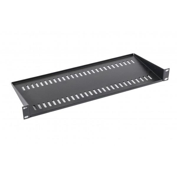 Cantilever Shelf Semi Vented Up to 35kg Black (H) 1U x (W) 19″ x (D) 300mm