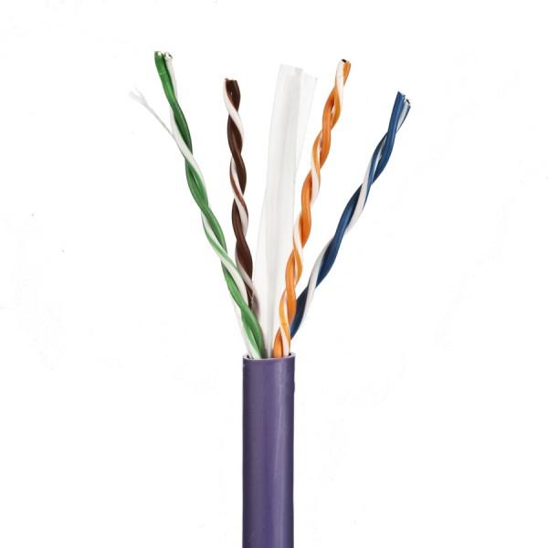 Cat6 Data Cable Solid U/UTP LSZH 4 Pair Violet 6.2mm 305m