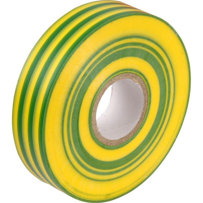 Tape PVC Green/Yellow 19mm x 20m