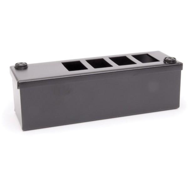 LJ6C Pod Box Horizontal 4 Port 1×4 Black (W) 60mm x (D) 70mm x (L) 190mm Entry Gland 32mm