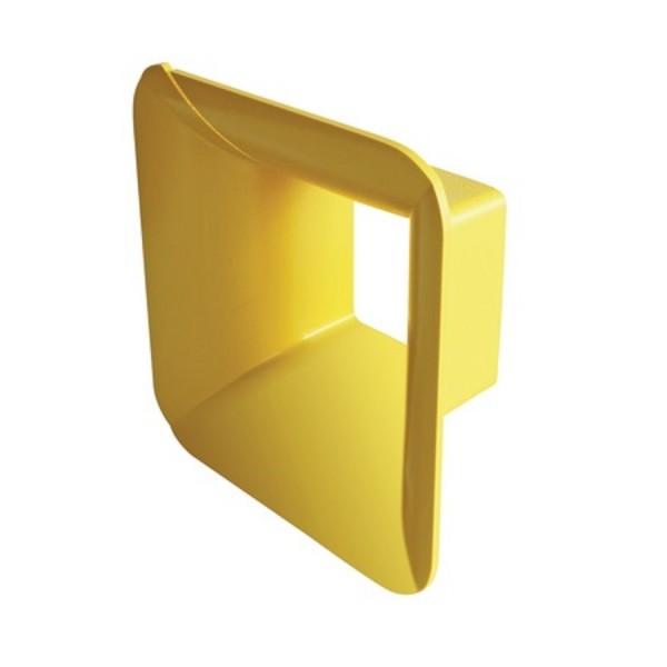 Fibre Ducting 4 Sided Trumpet Plastic LSZH Yellow (H) 100mm x (W) 100mm