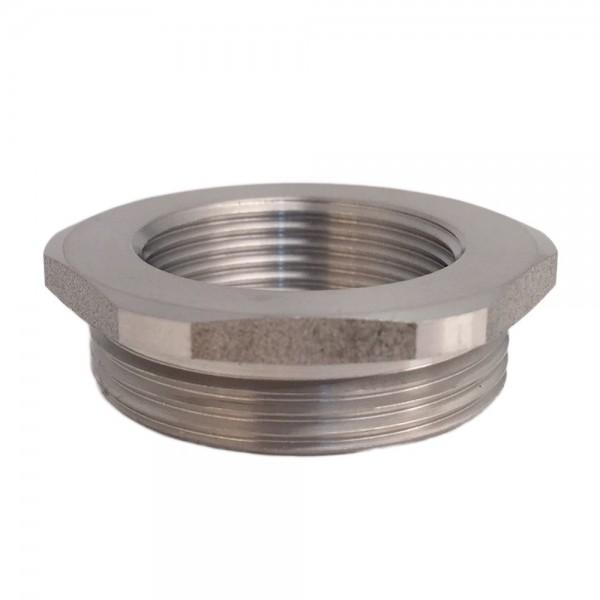 Metric Thread Adaptor M25 Male M32 Female Nickel Plated Brass