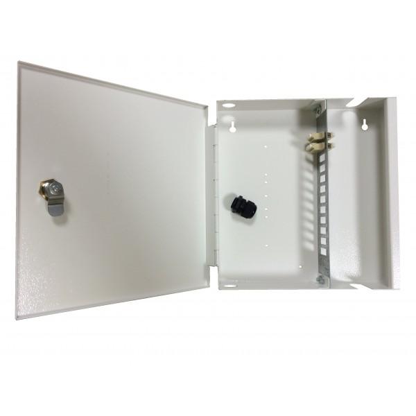 Fibre Optic Breakout Box Lockable 8 Way MM LC Simplex Loaded