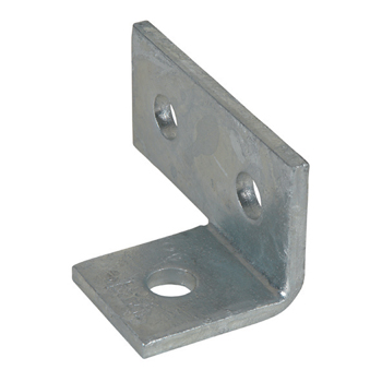 Channel Bracket Angled 90 Degree Hot Dip Galvanised Steel 2+1 Hole P1037 (W) 48mm x (D) 98mm