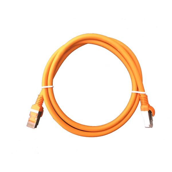 Cat6A F/UTP LSZH Patch Lead Orange 0.5m