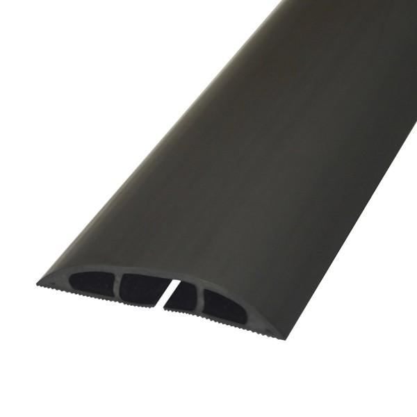 Floor Cable Cover Light Duty 1x 17x9mm Cavity Black (W) 60mm x (L) 1.8m