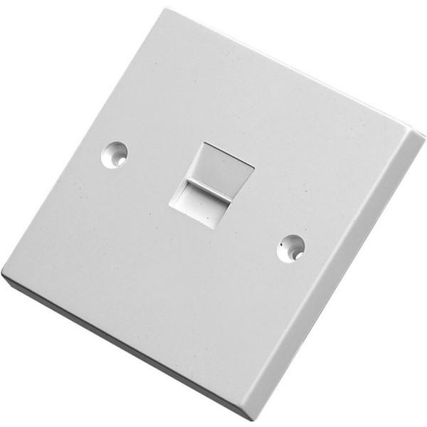 Line Jack 3/2A PABX IDC White (H)85mm x (W)85mm x (D)8mm