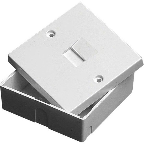 Line Jack 2/1A Master Insulation Displacement Connector White (H)68mm x (W)68mm x (D)29mm