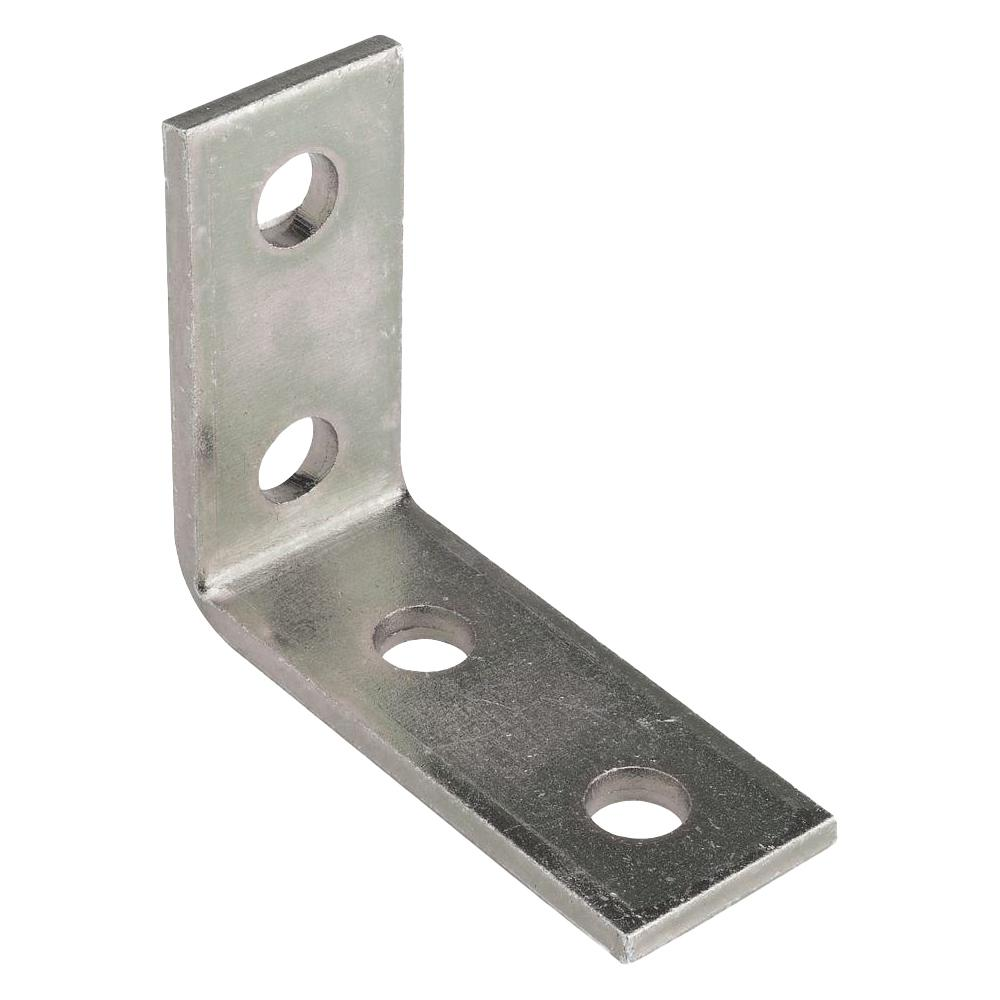 Channel Bracket Angled 90 Degree Hot Dip Galvanised Steel 2+2 Hole P1325 (W) 89mm x (D) 104mm