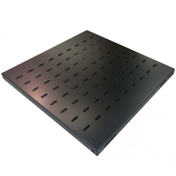 Fixed Shelf Vented Standard Up to 35kg Black (H) 1U x (W) 19″ x (D) 720mm