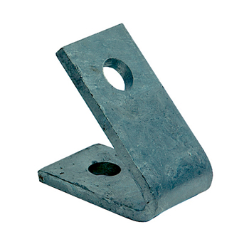 Channel Bracket Angled 45 Degree Hot Dip Galvanised Steel 1+1 Hole P1186 (W) 70mm x (D) 70mm