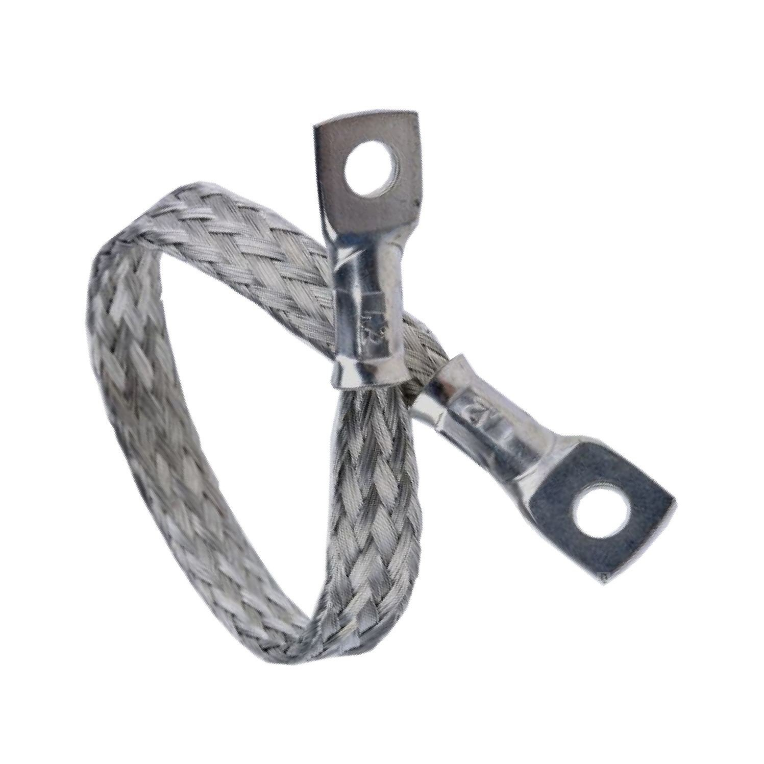 Earth Straps Round Copper Braid (L)200mm (Dia)M6 Current Rating 45A