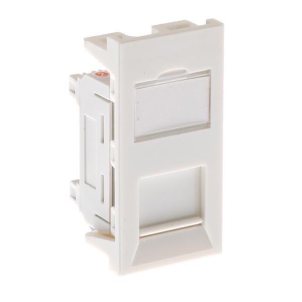 Cat6 Module Low Profile Unshielded Euro White