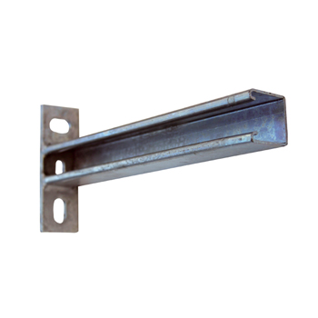 Channel Cantilever Arm Slotted 90 Degree Hot Dip Galvanised Steel P2668T/450H (H) 133mm x (L) 450mm