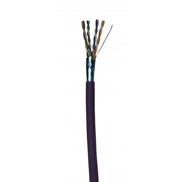 Cat5E Data Cable Solid F/UTP LSZH 4 Pair Dca-s2 Violet 305m