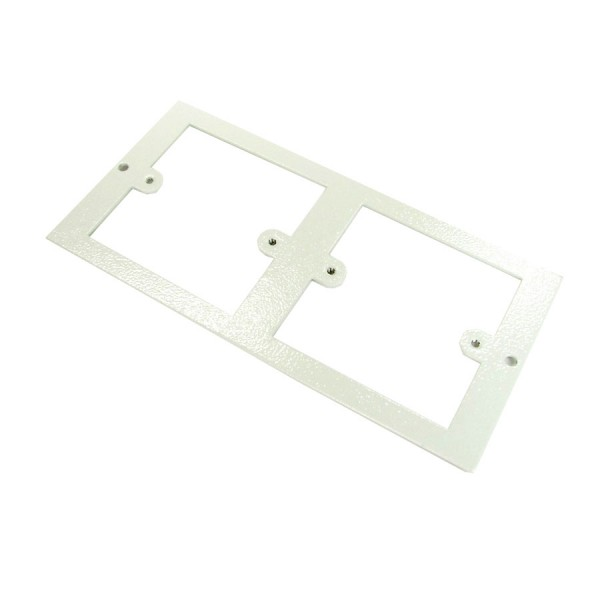 Floor Box Faceplate 2x Single Gang (For 3 Way Shallow & Deep) Grey (H) 89mm x (L) 185mm ST0286